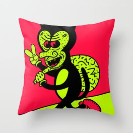 THE CAT BURGLAR. Throw Pillow