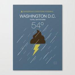 Total Shitstorm Canvas Print