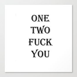 one two Canvas Print