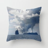 duvet cover Throw Pillows featuring AMAZING CLOUD DUVET COVER by aztosaha