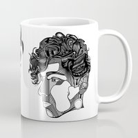 danny haas Mugs featuring Danny by Alastair Vanes