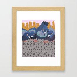 Pigeon Feast Framed Art Print