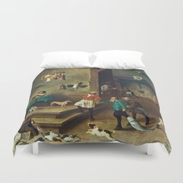 The Kitchen by David Teniers the Younger Duvet Cover