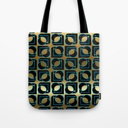 Tubes in Cubes on Gold Tote Bag