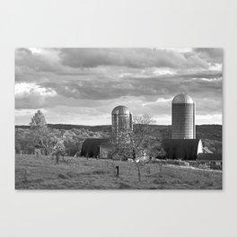 Cloudy Sky over Farm Canvas Print