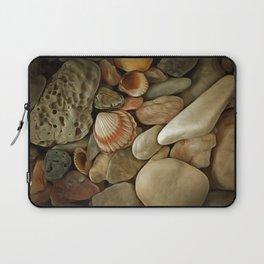 Sea Pebbles With Shells Laptop Sleeve