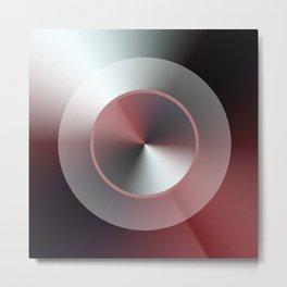 Serene Simple Hub Cap in Red Metal Print