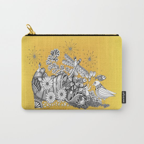 Kids World of Sunshine a Zentangle Illustration Carry-All Pouch