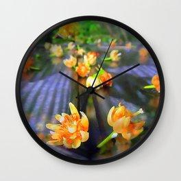 Fallen Basswood Buds Wall Clock