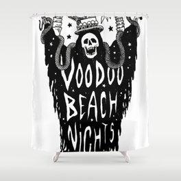 Voodoo Beach Nights Shower Curtain