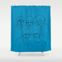 1d Shower Curtains featuring 1D by Rebecca Bear