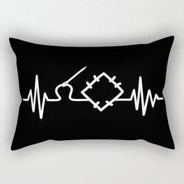 Quilting Heartbeat Rectangular Pillow