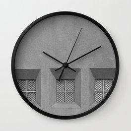 Three Little Windows Wall Clock