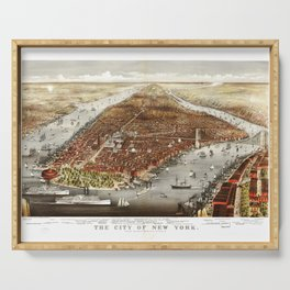The City of New York by Currier and Ives (1876) Serving Tray