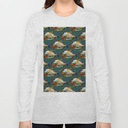 Piranha Army Hand painted Pattern Long Sleeve T-shirt