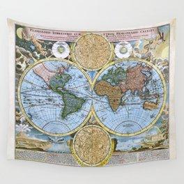 World map wall art 1600 dorm decor mappemonde Wall Tapestry