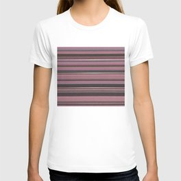 Pink and Brown Striped Pattern T-shirt