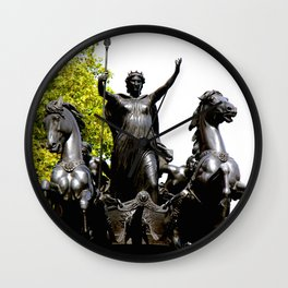 Boudicca and Charriot Wall Clock