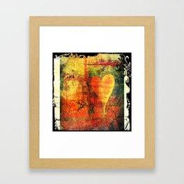 Warm hearted. Framed Art Print