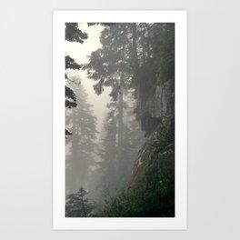 Elsay Lake Fog Art Print