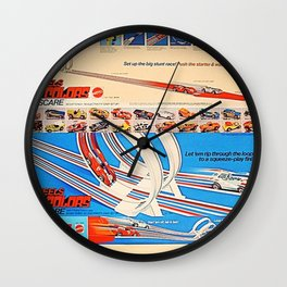 Vintage Hot Wheels Redline Flying Colors Double Scare Trade Print Poster Wall Clock