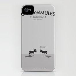 Crazy old Mule / Darth Mule iPhone Case
