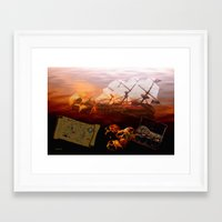 pirates Framed Art Prints featuring Pirates  by valzart