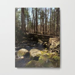 Bridge In the Forest Metal Print