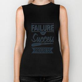 Failure Is The Condiment Inspirational Motivational Quote Design Biker Tank