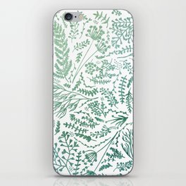 GREEN HERBS iPhone Skin