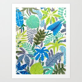 TROPICAL BREEZES PATTERN Art Print