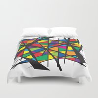 stained glass Duvet Covers featuring Stained Glass by preview