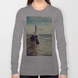 Amble Pier Lighthouse Long Sleeve T-shirt