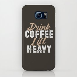 Drink Coffee Lift Heavy iPhone Case
