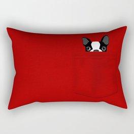 Pocket Boston Terrier Rectangular Pillow
