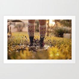 Mud Jump Art Print