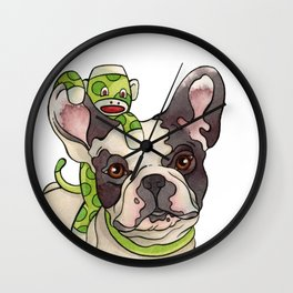 Bubba & Monkey Wall Clock