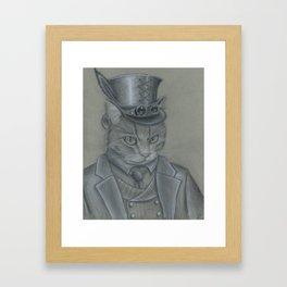 Steampunk Cat Framed Art Print