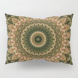 Green and golden mandala Pillow Sham