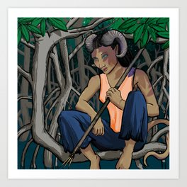 Ippa: Druid of the Mangroves Art Print