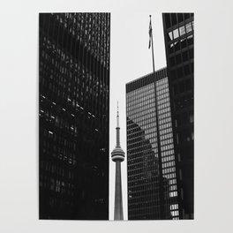 CN Tower Between Buildings Poster