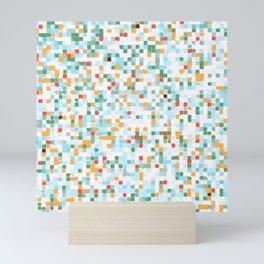 handmade coloured squares Mini Art Print