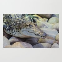 crocodile Area & Throw Rugs featuring Crocodile by PICSL8