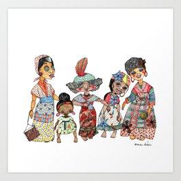 Creole Dolls Art Print