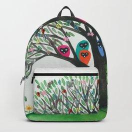 South Carolina Whimsical Owls in Tree Backpack