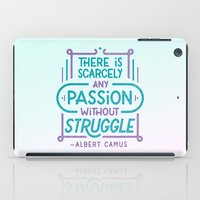 camus iPad Cases featuring Camus on Passion by Josh LaFayette