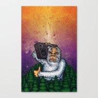 eddie vedder Canvas Prints featuring eddie by Sam Buchanan