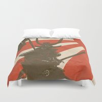 samurai Duvet Covers featuring Samurai by Riku Forsman