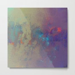 Industral Abstract, Cooling and Burning Metal Metal Print