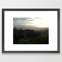 View from the Hearst Mansion Framed Art Print